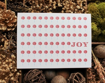 Candy Cane Joy Holiday Card Set |  Christmas Stationery | Christmas Card | Greeting Cards | Personalized Christmas Cards