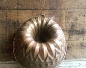 Vintage Copper Mold, Nickel Lined, Farmhouse Kitchen, Rustic Decor, Wall Art, Dessert Baking, Holiday Cooking