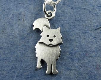 Fuzzy cat necklace / pendant