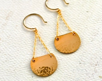 Barnacle Earrings - gold dappled earrings, silver dappled barnacle earrings, rose gold nautical earrings, E30/31/32