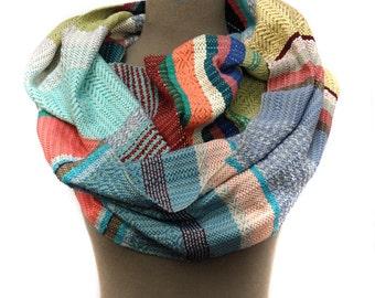 Berkeley Handwoven Pastel Striped Vegan Scarf |  Modern Women's Woven Scarf | Boho Summer Cotton Scarves | Men's Chic Accessories  | H66