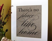 THERE'S no PLACE like HOME - burlap art print