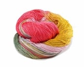 300 Yards Hand Dyed Cotton Crochet Thread Size 10 3 Ply Specialty Thread Rose Pink Sage Green Yellow Hand Painted Fine Cotton Yarn