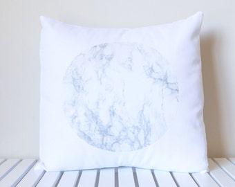 Marble Circle Pillow