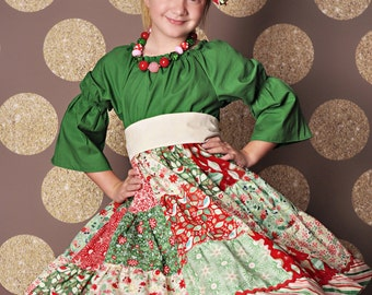 Made to match Peppermint Patty 2015 Christmas Dress by Corinna Couture Chunky Necklace for Little Girls