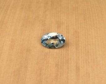 Natural Aquamarine Gemstone - ONE Oval cut Aquamarine Gem averaging 4x6mm, .35 carats - LSG814