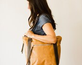leather handbag: fairhaven grand buttery fawn