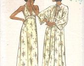 1970s Vogue 8757 Misses Lingerie Pattern Nightgown Dolman Sleeve Robe Pattern Vintage Sewing Pattern Size 8 Bust 31 UNCUT