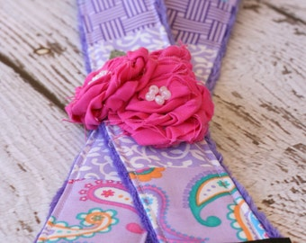 Camera Strap dSLR. Camera Strap.  Purple Paisley Camera Strap. Padded Camera Strap. Gift for Her.