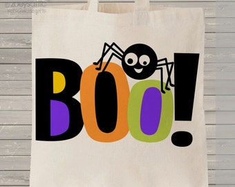Halloween bag trick or treat BOO bag perfect to use as a halloween bag to collect all the candy MBAG1-022