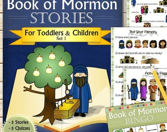 Set 1 of Book of Mormon Stories (For Toddlers and Children) - INSTANT DOWNLOAD