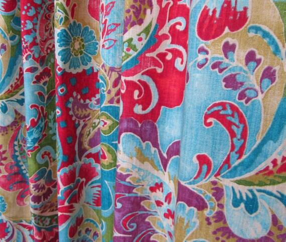 Bright Bohemian Curtains Boho Home Decor By Asmushomeinteriors