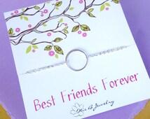 FRIENDSHIP BRACELET, karma bracelet, circle bracelet, minimal bracelet, Best friend gift, BFF bracelet, best friend bracelet, otis b