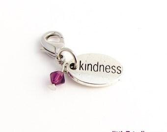 Kindness Jewelry Clippie™! - With a Genuine Purple Swarovski Crystal!