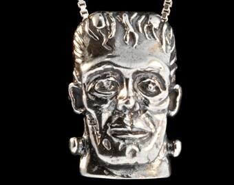 Frankenstein Jewelry Monster Pendant Frankenstein Necklace Halloween Monster Mash Jewelry Creature Monster Jewelry Halloween Jewelry