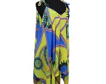 Summer Kimono Cover up Lightweight Blue Yellow Pink Black Dress Top