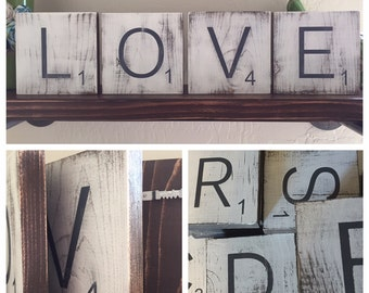large letter tiles for the wall home decor gallery wall letters rustic home decor wood signs
