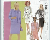 McCall's 3496 - Misses'/Misses' Petite Dress and Lined Jackets - Size 16-18-20-22 - Uncut Pattern