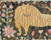 Antique Lion rug hooking patterns