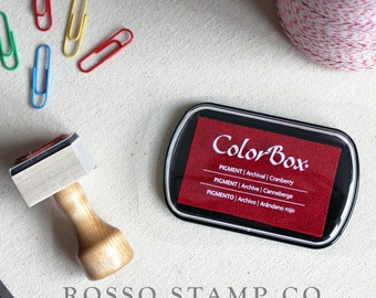 Cranberry Pigment Ink Pad - ColorBox Pigment Ink Pad - Red Ink Pad