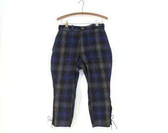 Vintage 1940s Pants / Wool Jodhpurs / Ski Pants / Riding Breeches / 27W Small