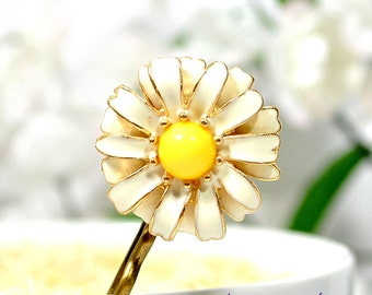 Daisy Hair Pin Flower Bobby Pin Flower Hair Pins Daisy Hair Clip Women's Accessory