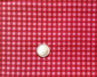 RD004 ~ Christmas fabric Red fabric Red checks Quilting Quilt