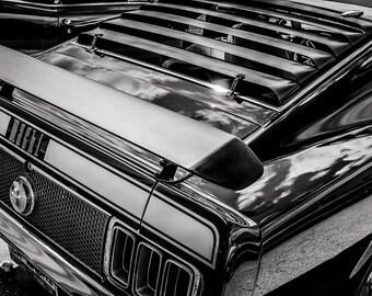 1970 Ford Mustang Mach 1 Car Photography, Automotive, Auto Dealer, Muscle, Sports Car, Mechanic, Boys Room, Garage, Dealership Art