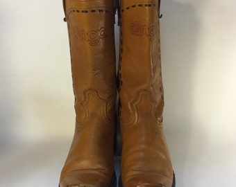 Vintage Dingo Square Toe Western Boots Unisex Campus Style