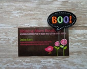 Felt Paperclips - Black BOO Conversation Bubble Halloween Paper Clip Or Bookmark - Holiday Accessory For Planners, Calendars, Or Book