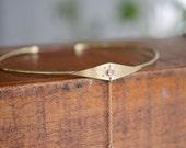 Choker, brass, neck cuff, sunburst, moonstone, gold, adjustable, stone, chain // HELIOS NECK CUFF