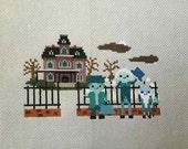 SALE 15% off: Haunted Mansion Cross Stitch- Disney Ride Inspired Parody PDF/Instant Download