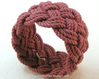 red rope bracelet knotted nautical cuff bracelet turks head bracelet sailor knot armband sailor bracelet 3148