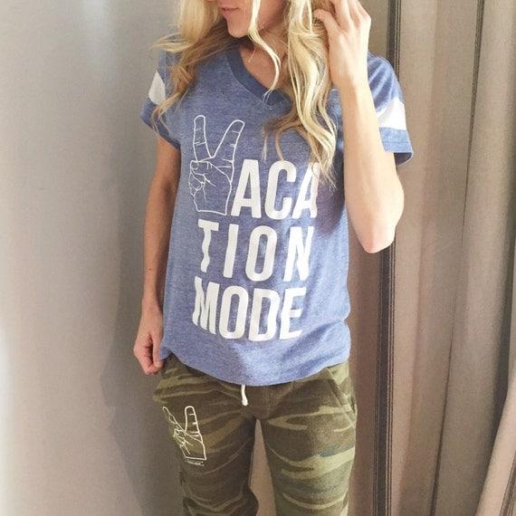Vacation Mode Womens Graphic Tshirt