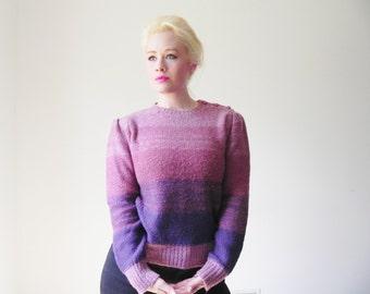 Violet Monochrome Vtg 80s Cozy Sweater