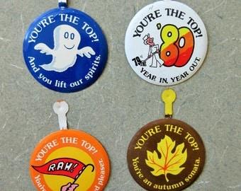 Vintage Badges, Bank of America, Bank Ads, 1970s Advertising, Ghost Image, Fall, Rah Rah Image, Bank Memorabilia, Bank of America Ads