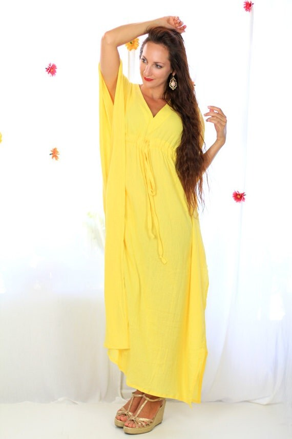 Yellow cover up maxi dresses