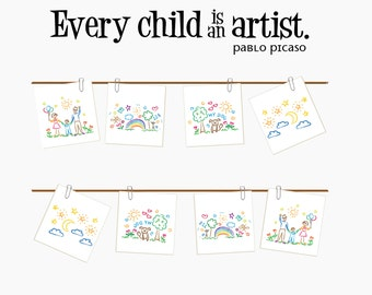 Every child is an artist wall decal for children's art gallery DB404