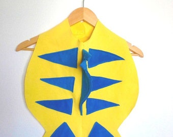 Yellow Fish Cape, Kids Halloween Costume, Flounder Cape