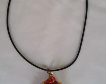 Autumn Leaf Pendant Necklace