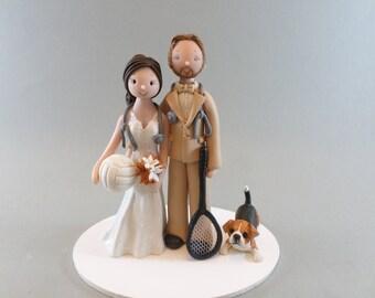 Custom Made Sports Fans Wedding Cake Topper