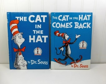 The Cat in the Hat by Dr Seuss and The Cat in the Hat Comes Back, 1980s I Can Read Beginner Books