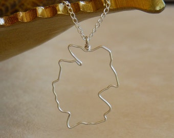 Germany Silhouette Necklace - Pendant