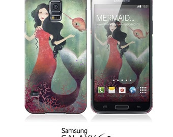 Phone Case - Mermaid and Narwhal - iPhone 5 - iPhone 5C - iPhone 6 - Samsung Galaxy