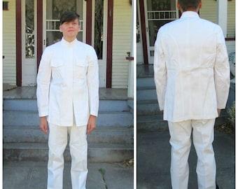 US Navy Dress Whites Uniform Pants Only Navy SEAL Dress White Pants Size 30 USN