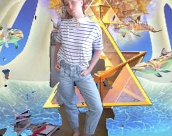 Skinny Light Blue LA Gear Jeans Vintage 90s M Denim