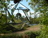 Stained Glass Beveled Crystal Hanging