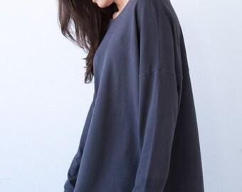 Long Sleeve Slouchy Tunic Organic Cotton