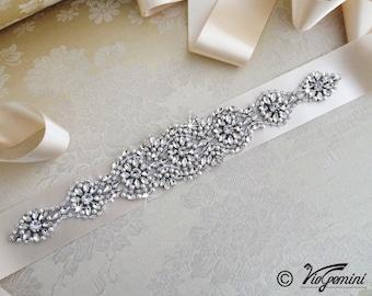 Bridal Sash Belt, Bridal Belt, Sash Belt, Wedding Dress Belt, Crystal Rhinestone Belt