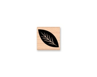 SMALL LEAF Rubber Stamp~Fall Autumn~Thanksgiving~Silhouette Stamp~Solid Image Stamp~Card Making Supplies~Mountainside Crafts (34-20)